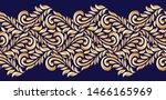 golden seamless vintage swirly ... | Shutterstock .eps vector #1466165969