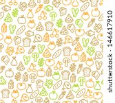 seamless pattern with food... | Shutterstock .eps vector #146617910