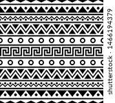ikat aztec ethnic seamless... | Shutterstock .eps vector #1466194379