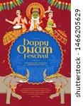 happy onam festival poster with ... | Shutterstock .eps vector #1466205629