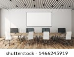 contemporary coworking office... | Shutterstock . vector #1466245919