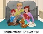 a vector illustration of happy... | Shutterstock .eps vector #146625740