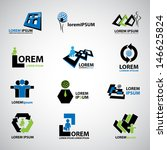 business icons set   isolated... | Shutterstock .eps vector #146625824