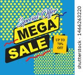special offer mega sale banner... | Shutterstock .eps vector #1466263220