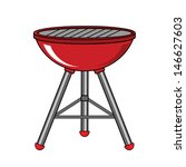red barbecue    Shutterstock .eps vector #146627603