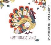 happy thanksgiving beautiful... | Shutterstock .eps vector #146628044