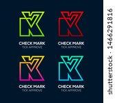 letter k logotypes with check...   Shutterstock .eps vector #1466291816