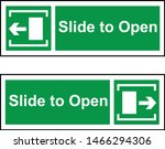 slide to open vector sign image