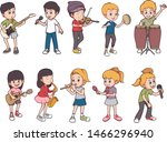 collection pack cartoon... | Shutterstock .eps vector #1466296940