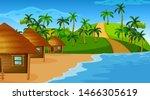empty nature beach ocean...   Shutterstock .eps vector #1466305619