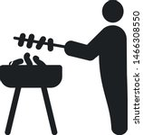 barbaque icon. man cooking... | Shutterstock .eps vector #1466308550