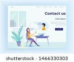 call center landing page....   Shutterstock .eps vector #1466330303