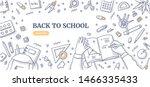 workspace of school student....   Shutterstock .eps vector #1466335433