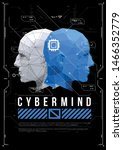 cyber mind concept poster with...