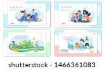 happy family summer activities... | Shutterstock .eps vector #1466361083