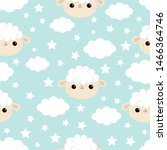 Seamless Pattern. Cloud Star I...