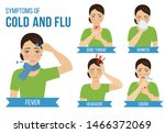 symptoms of cold and flu  ... | Shutterstock .eps vector #1466372069