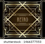art deco vintage patterns and... | Shutterstock .eps vector #1466377553