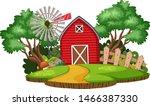 nature landscape of farmland... | Shutterstock .eps vector #1466387330