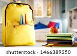 school backpack and free space... | Shutterstock . vector #1466389250