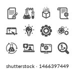 set of science icons  such as... | Shutterstock .eps vector #1466397449