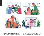 set of medical insurance  ... | Shutterstock .eps vector #1466399210