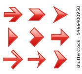 arrows set. arrow icons down... | Shutterstock . vector #1466400950
