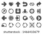 arrows icons. set of download... | Shutterstock .eps vector #1466410679