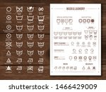 laundry flat icons illustration ... | Shutterstock .eps vector #1466429009