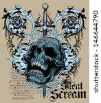 silent scream | Shutterstock .eps vector #146644790