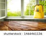 window and wooden table top... | Shutterstock . vector #1466461136