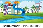 an outdoor scene with water... | Shutterstock .eps vector #1466480483
