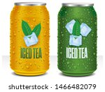 iced tea tin can package with... | Shutterstock . vector #1466482079
