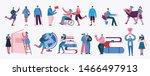vector illustration in a flat... | Shutterstock .eps vector #1466497913