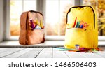 schoolbags background with some ... | Shutterstock . vector #1466506403