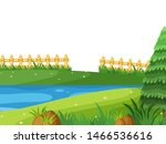landscape background with river ... | Shutterstock .eps vector #1466536616