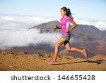 runner woman athlete running... | Shutterstock . vector #146655428