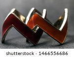 two red intertwined rings on a... | Shutterstock . vector #1466556686