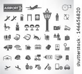 airport icons set | Shutterstock .eps vector #146656820