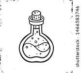 lab bottle icon. halloween icon.... | Shutterstock .eps vector #1466583746
