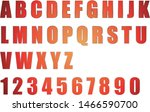alphabet and red numbers on... | Shutterstock .eps vector #1466590700