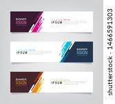 vector abstract banner design... | Shutterstock .eps vector #1466591303
