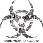 biohazard symbol vector tag... | Shutterstock .eps vector #146660240