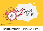 2 days to go last countdown... | Shutterstock .eps vector #1466641193