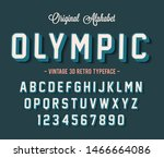 vintage 3d modern alphabet.... | Shutterstock .eps vector #1466664086