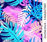 abstract seamless vector... | Shutterstock .eps vector #1466667080
