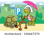 the illustration shows a funny... | Shutterstock .eps vector #146667374