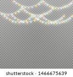 vector christmas lights ... | Shutterstock .eps vector #1466675639