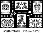 set of day of the dead...   Shutterstock .eps vector #1466676590