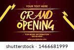 grand opening vector banner... | Shutterstock .eps vector #1466681999